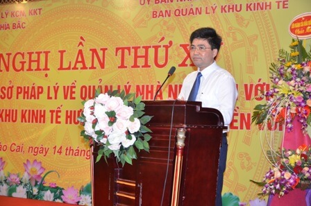 ông Trần Minh Hoan phát biểu